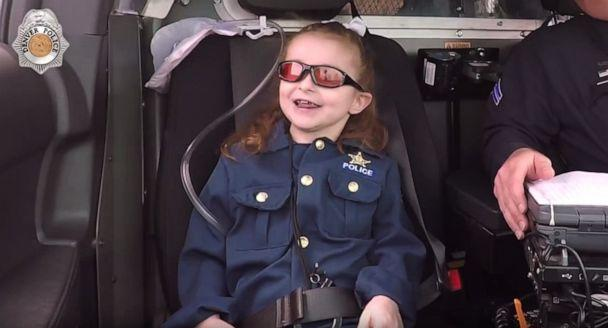 PHOTO: The Denver Police Department granted 6-year-old Olivia Gant's bucket list wish to become a police officer for a day. (Denver Police Department, FILE)