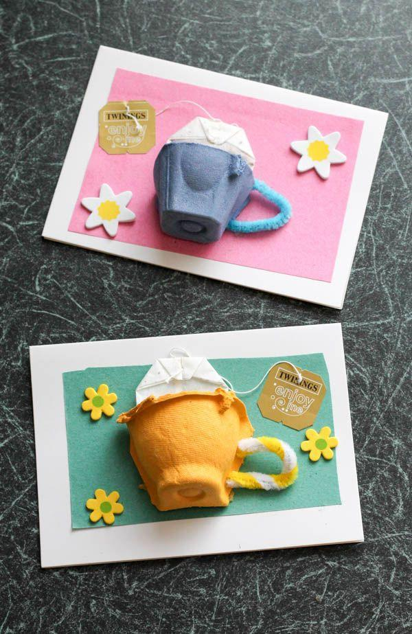 "<p>With a little crafty ingenuity, an old egg carton becomes a card befitting any tea-drinking mom. Gift her some bags of her favorite brew to go with it. <br></p><p><em><a href=""https://intheplayroom.co.uk/2015/03/16/drink-it-all-in-with-twinings-and-tea-cup-cards/"" rel=""nofollow noopener"" target=""_blank"" data-ylk=""slk:Get the tutorial at In the Playroom »"" class=""link rapid-noclick-resp"">Get the tutorial at In the Playroom »</a></em></p>"