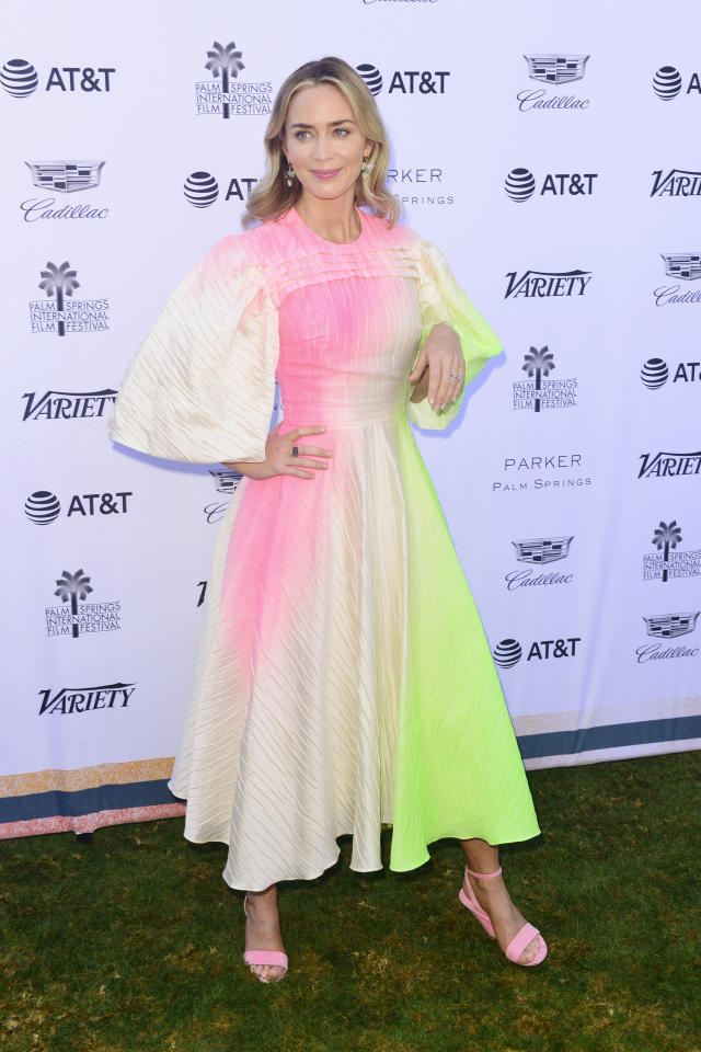 <p>Wearing Roksanda. <em>[Photo: Getty]</em> </p>