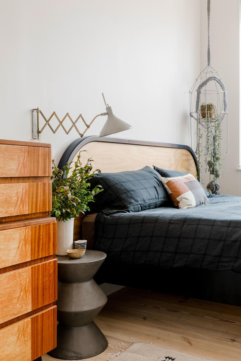 The lamp in Matthew Stewart's bedroom used to belong to his grandparents, but it still looks good and works great too.