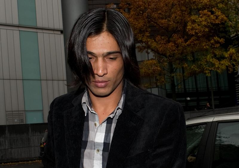 Pakistan paceman Mohammad Aamer arrives at Southwark Crown Court in London in November 2011