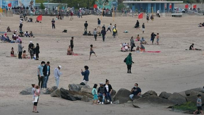 But swimming was not allowed in New York's Coney Island - so people just enjoyed the beach