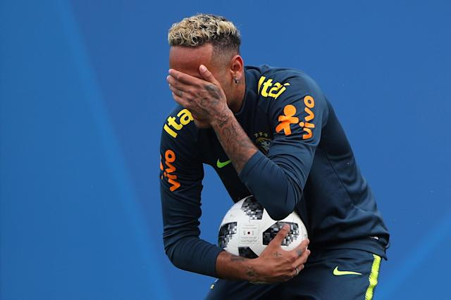Soccer Football - World Cup - Brazil Training - Brazil Training Camp, Sochi, Russia - June 19, 2018 Brazil's Neymar during training REUTERS/Hannah McKay