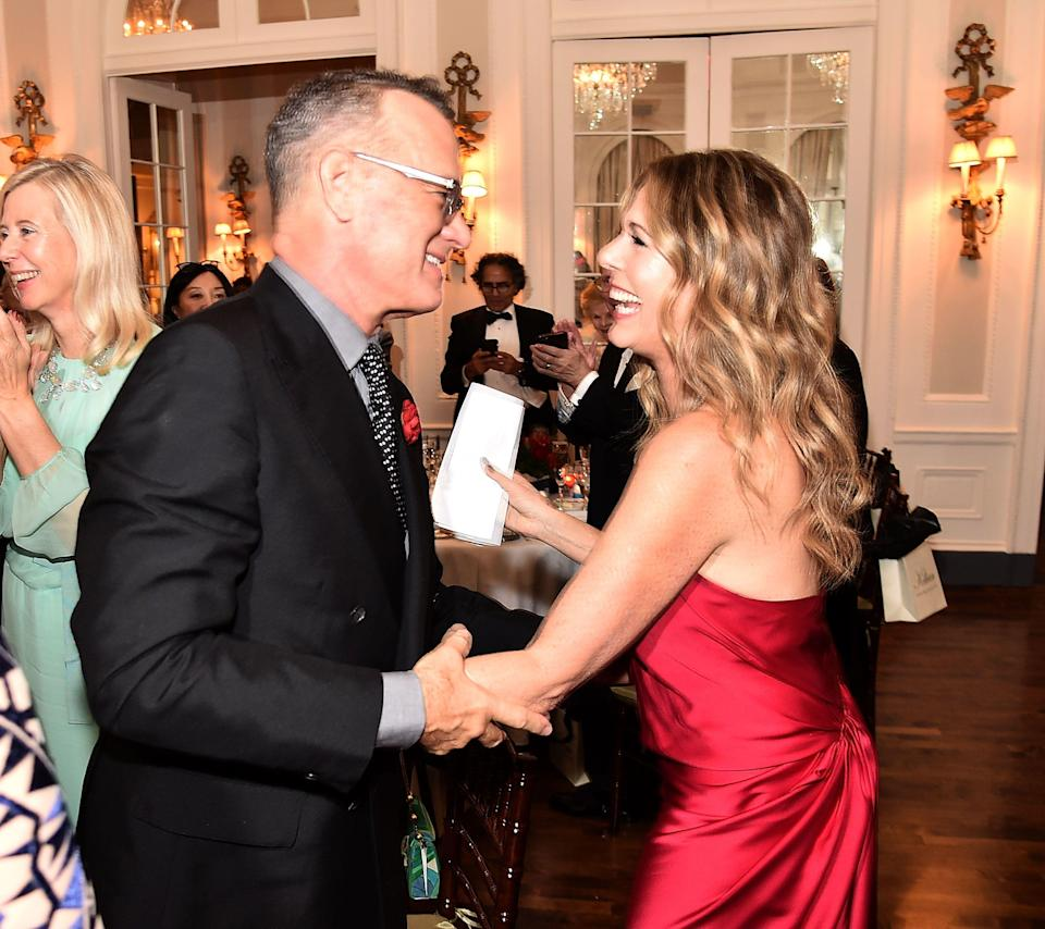 Tom Hanks and Rita Wilson celebrate their anniversary on April 30. (Photo: Theo Wargo/Getty Images)
