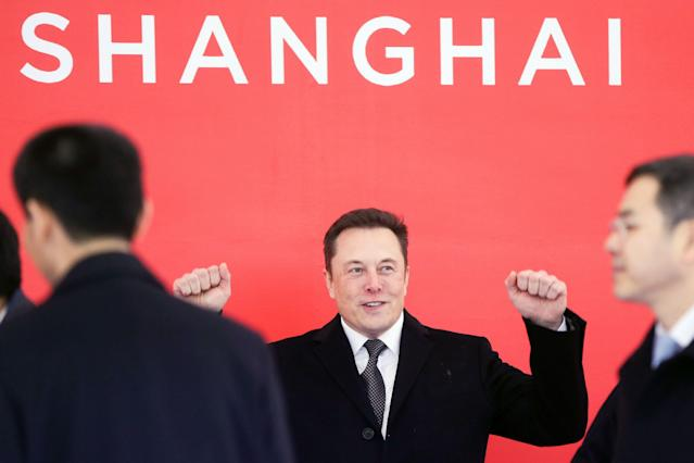 South African-born Tesla CEO Elon Musk attends the groundbreaking ceremony of the Tesla Shanghai factory in Shanghai, China on Jan. 7, 2019. (Photo: Ding Ting/Xinhua via AP)