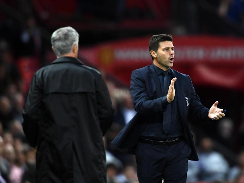Mauricio Pochettino on the sideline at Old Trafford last season: Getty
