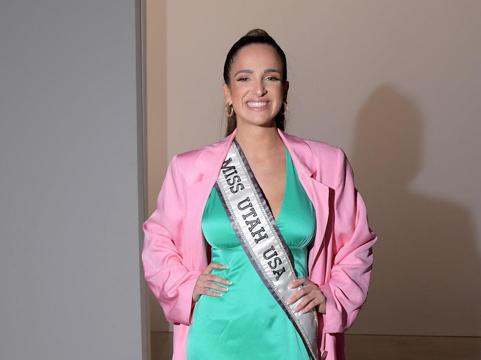 <p>Rachel Slawson is the first openly bisexual to compete in the Miss USA competition</p> (Getty Images for NYFW: The Shows)