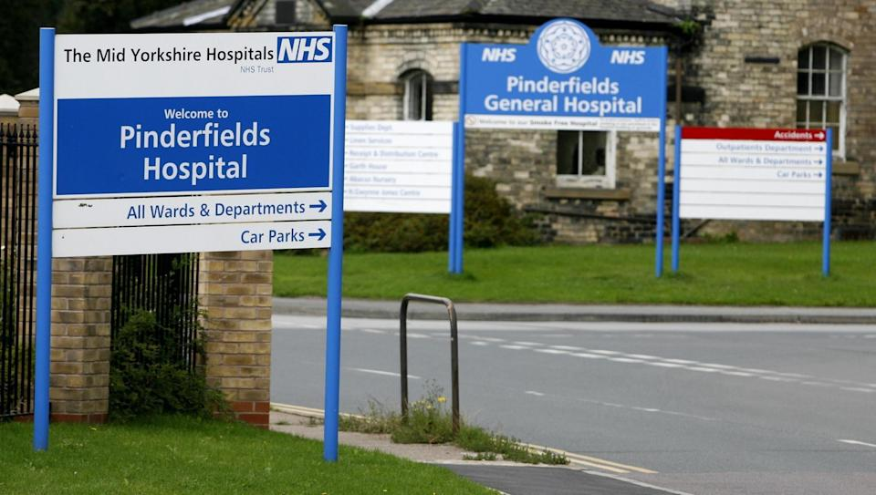 Pinderfields Hospitals in Yorkshire where operations have been cancelled (PA)