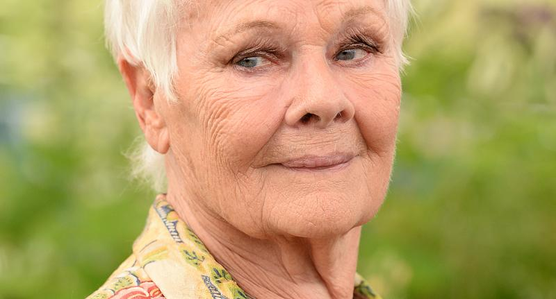 Judi Dench, pictured at the Chelsea Flower Show 2019, has become the oldest person to grace the cover of Vogue at the age of 85. (Getty Images)