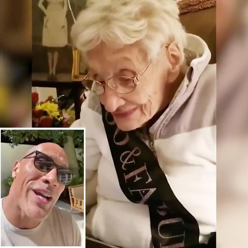 Dwayne Johnson Sends Sweet Birthday Message to 100-Year-Old Fan: 'What an Amazing Life'