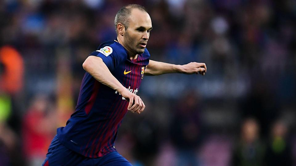 Pep talk: Former Barcelona midfielder Andres Iniesta is wanted by Manchester City and a deal is being discussed