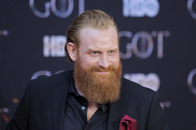 """Kristofer Hivju arrives for the premiere of the final season of """"Game of Thrones"""" at Radio City Music Hall in New York, U.S., April 3, 2019. REUTERS/Caitlin Ochs"""