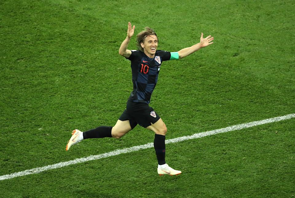 Luka Modric won the player of the tournament award for his performances at the 2018 World Cup (Getty Images)