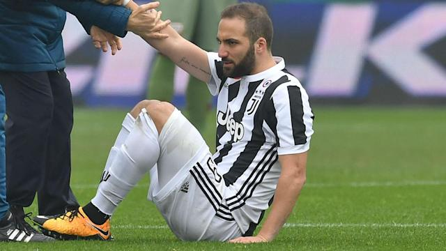 Massimiliano Allegri says Gonzalo Higuain suffered only a bruise after being substituted early in Juventus' 1-0 derby victory over Torino.