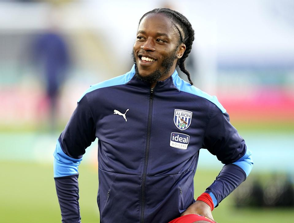 West Bromwich Albion's Romaine Sawyers warming up prior to kick-off during the Premier League match at the King Power Stadium, Leicester (Tim Keeton/PA) (PA Wire)