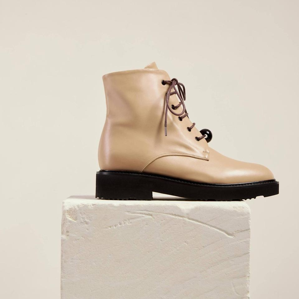"<p>""These <span>Dear Frances Park Boots</span> ($520) are the perfect subtle neutral to pair with denim and dresses. They come in buttery soft leather and feel as though they've molded to your foot after a single wear.""</p>"
