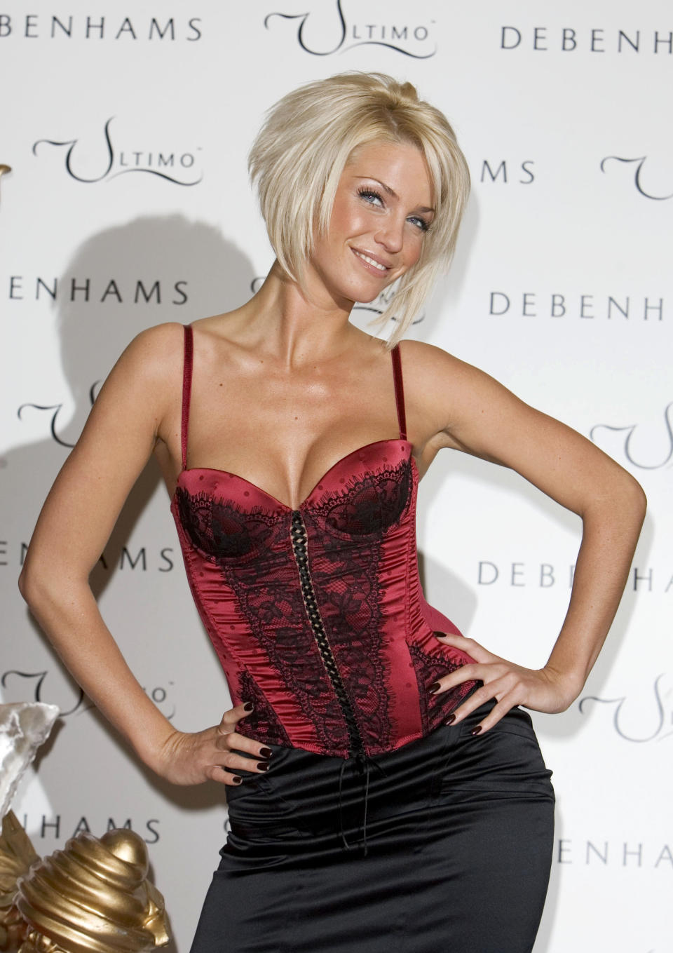 Sarah Harding from Girls Aloud on the red carpet.