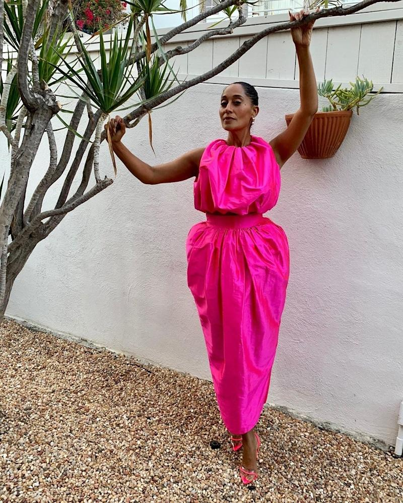 Tracee Ellis Ross wearing a look from Christopher John Rogers's fourth collection, spring/summer 2020, September 2019.
