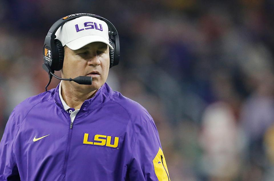 Former LSU head football coach Les Miles was accused of sexual harassment in 2013. He denied the accusations.