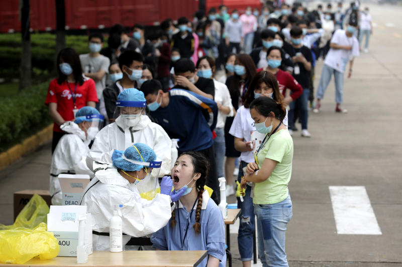 Virus Outbreak China Wuhan Testing