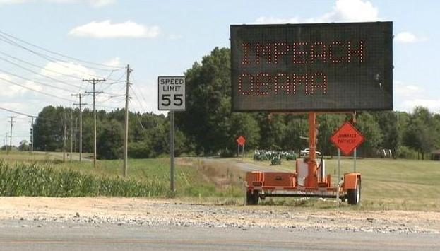 Hackers in Union County, North Carolina used a Department of Transportation traffic sign to display their own message. (Photo: WSOCTV.com)