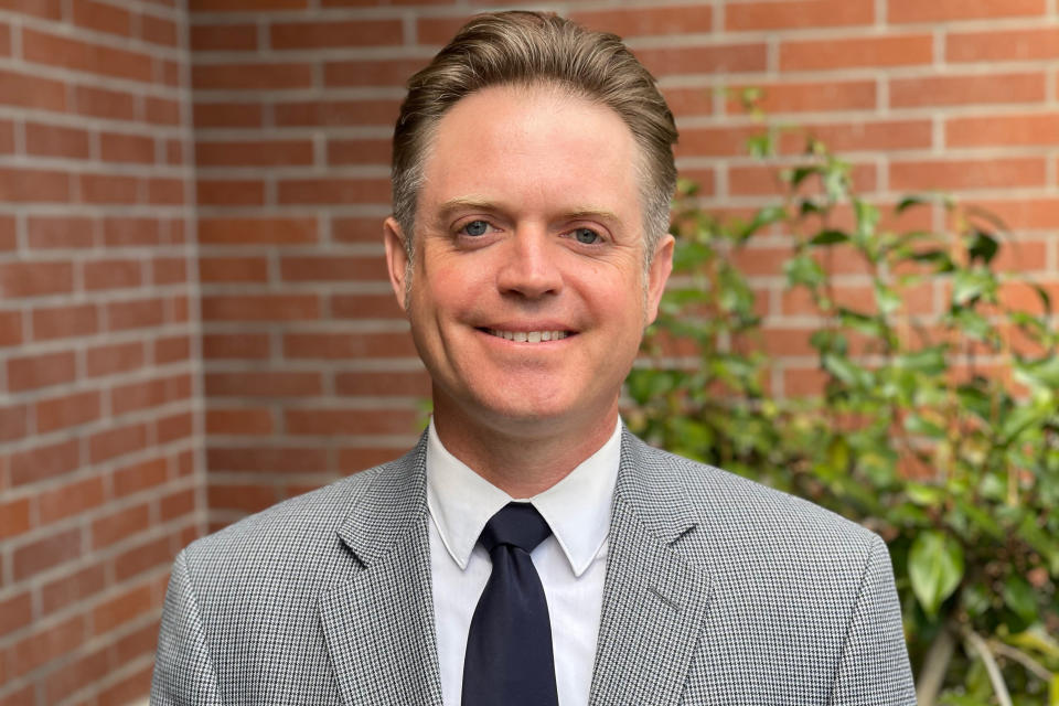 This undated photo provided by the National Catholic Educational Association in June 2021 shows Lincoln Snyder. On Wednesday, June 30, 2021, the NCEA will install him as their new president and CEO. He had served as superintendent of schools for the Diocese of Sacramento, California, since 2015. (NCEA via AP)