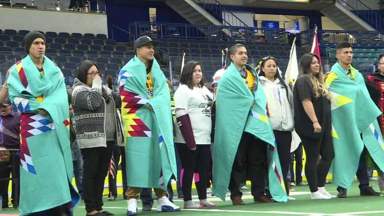 Sask. Rush star Jeremy Thompson (and his brothers) offer inspiration to 800 Indigenous children