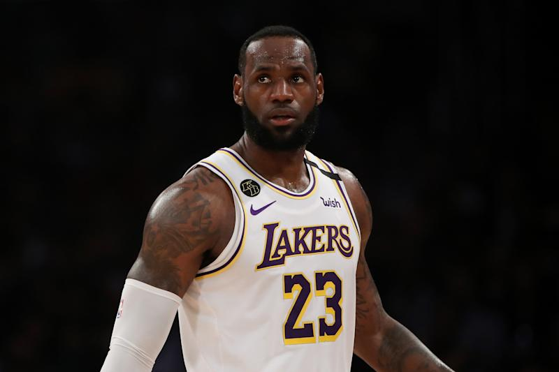 LeBron James talked about the emotional toll of Kobe Bryant's death while eluding questions about Monday's memorial. (Photo by Katelyn Mulcahy/Getty Images)