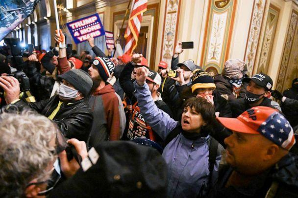 PHOTO: Supporters of President Donald Trump protest inside the US Capitol on Jan. 6, 2021. (Roberto Schmidt/AFP via Getty Images, FILE)