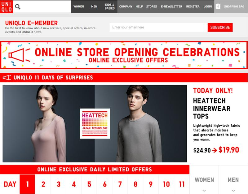 3c5dd4ec01 From Store To App  Uniqlo s Online Shopping App Launches in S pore