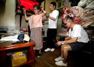 Grandson Reef Chang, 31, hit upon the idea of using the clothes to alleviate the couple's boredom