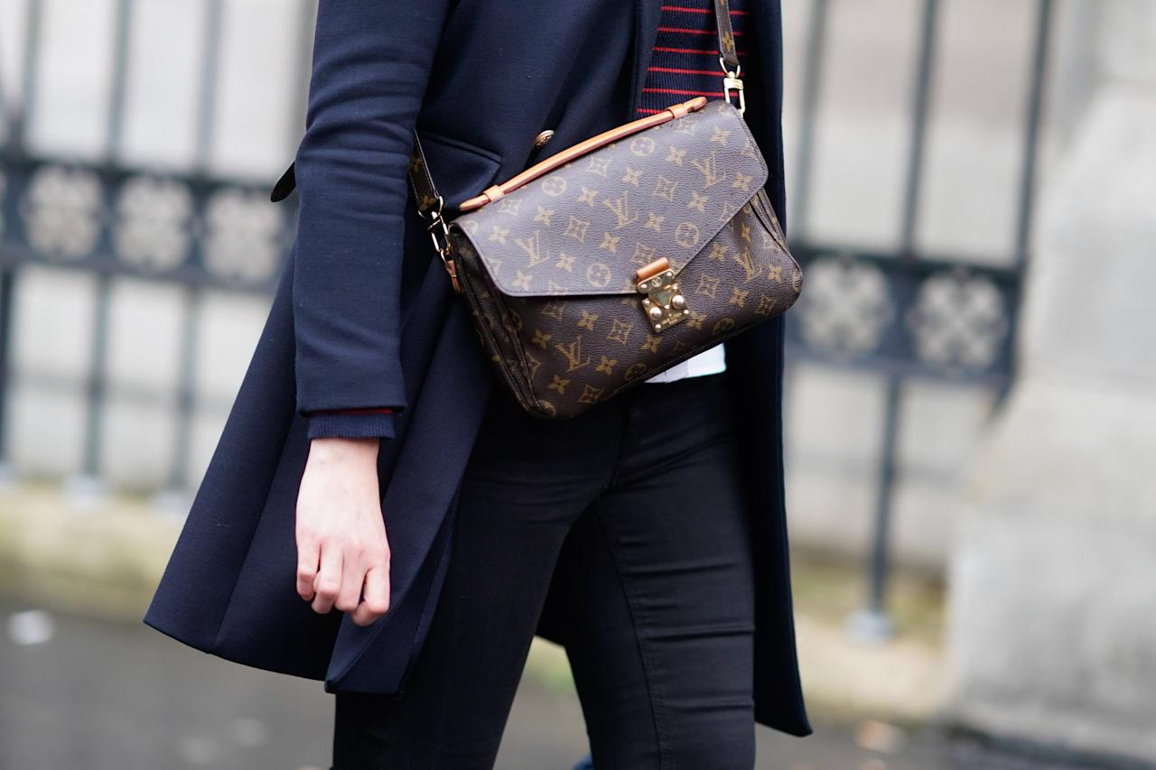 <p>There are few monograms more recognizable than Louis Vuitton's LV. Even if you're not a lover of brand logos, there's something to be said about the luggage tones beloved by everyone from Audrey Hepburn to Jackie Kennedy and its ability to look classically elegant no matter who the wearer.</p>