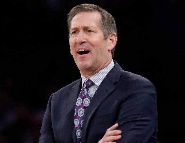 Knicks coach Jeff Hornacek was reportedly fired on Wednesday's team flight back to New York. (AP)