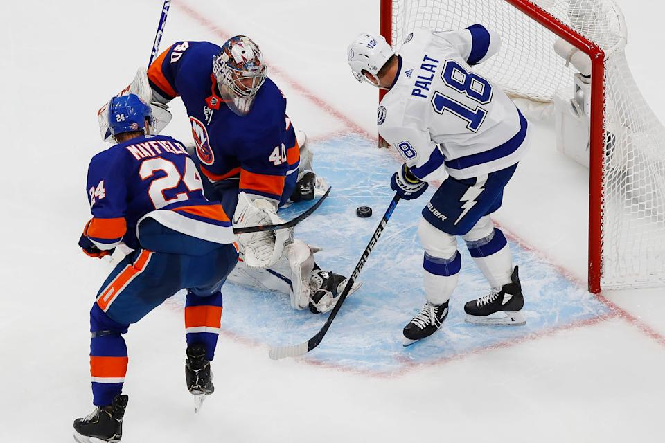 The Tampa Bay Lightning and New York Islanders meet in a rematch of last year's Eastern Conference finals.