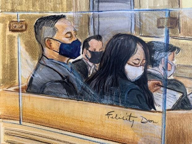 Meng Wanzhou sits beside an interpreter as she listens to her lawyers argue that she is being used as a political pawn. The Huawei executive is facing extradition to the United States.