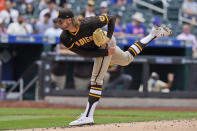 San Diego Padres starting pitcher Chris Paddack throws during the first inning of a baseball game against the New York Mets at Citi Field, Sunday, June 13, 2021, in New York. (AP Photo/Seth Wenig)