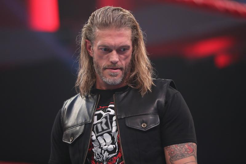 "Adam 'Edge' Copeland during an episode of ""Monday Night Raw."" (Photo courtesy of WWE)"