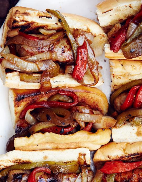Grilled Sausage, Pepper, And Onion Sandwiches From 'Feeding The Fire'