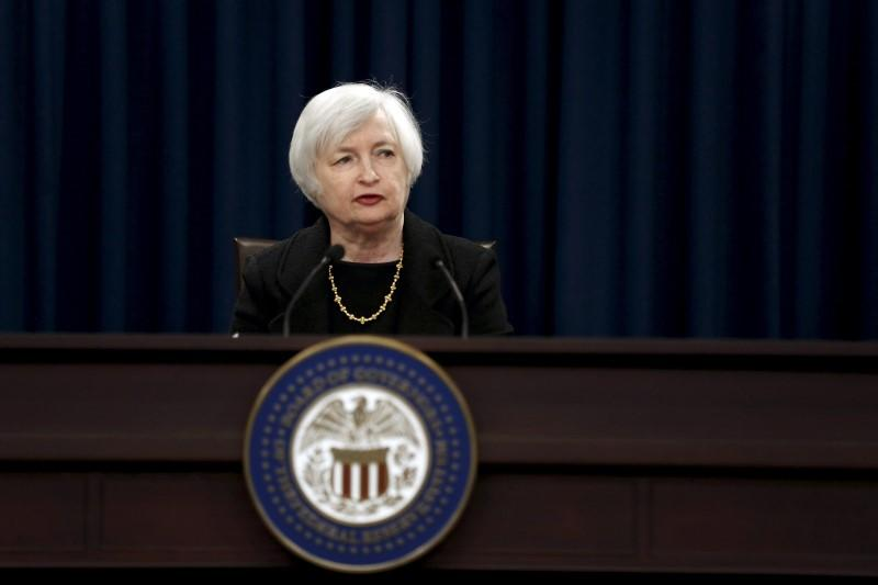 File photo of Yellen holding a news conference following the Federal Open Market Committee meeting in Washington