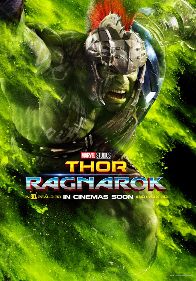 <p>That's right – The Hulk is in 'Thor: Ragnarok'. After leaving the Avengers behind at the conclusion of 'Avengers: Age of Ultron', it looks as though Bruce Banner has found his way to Sakaar… and there, he's become renowned as the most brutal gladiator of them all. But if Thor is going to enlist his help, there's one thing he has to do first – fight him.<br /> (Picture Credit: Marvel) </p>