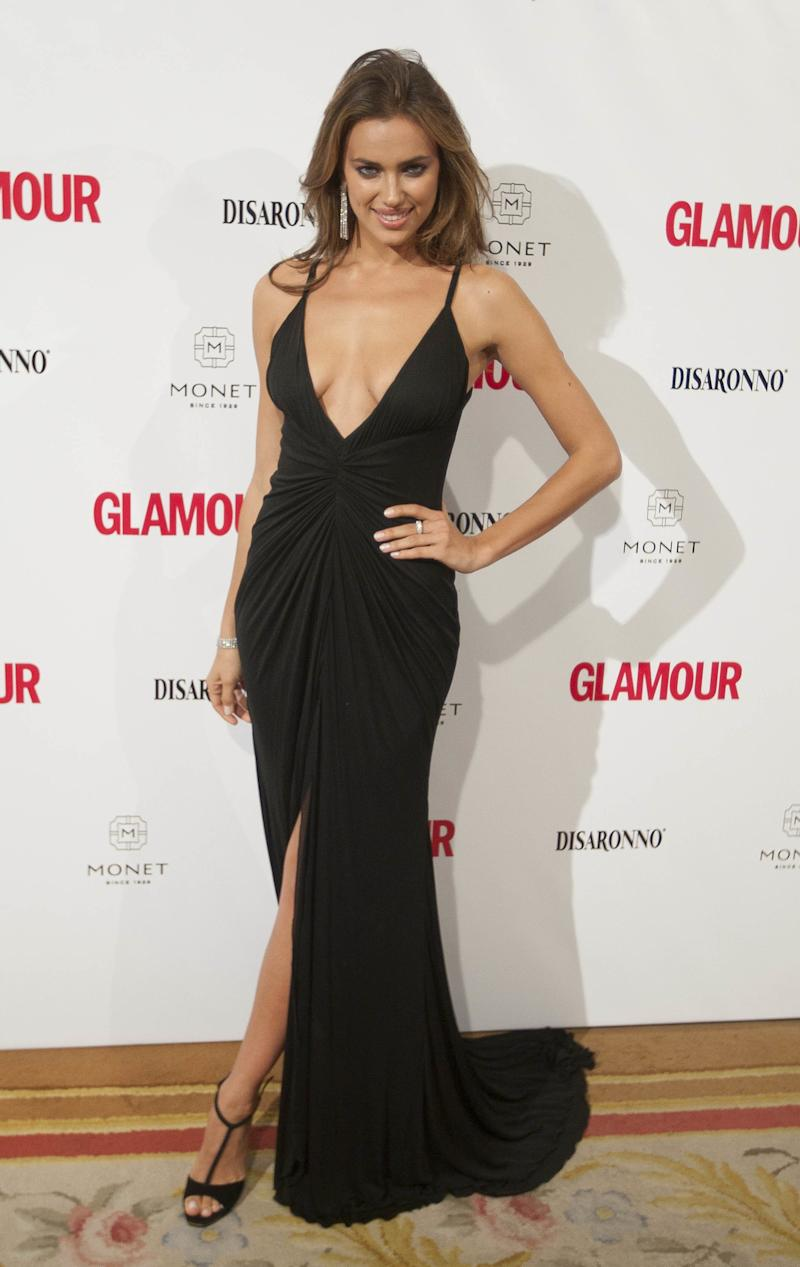 At a 2010 event in Spain, Shayk opts for a plunging black gown and T-strap heels.