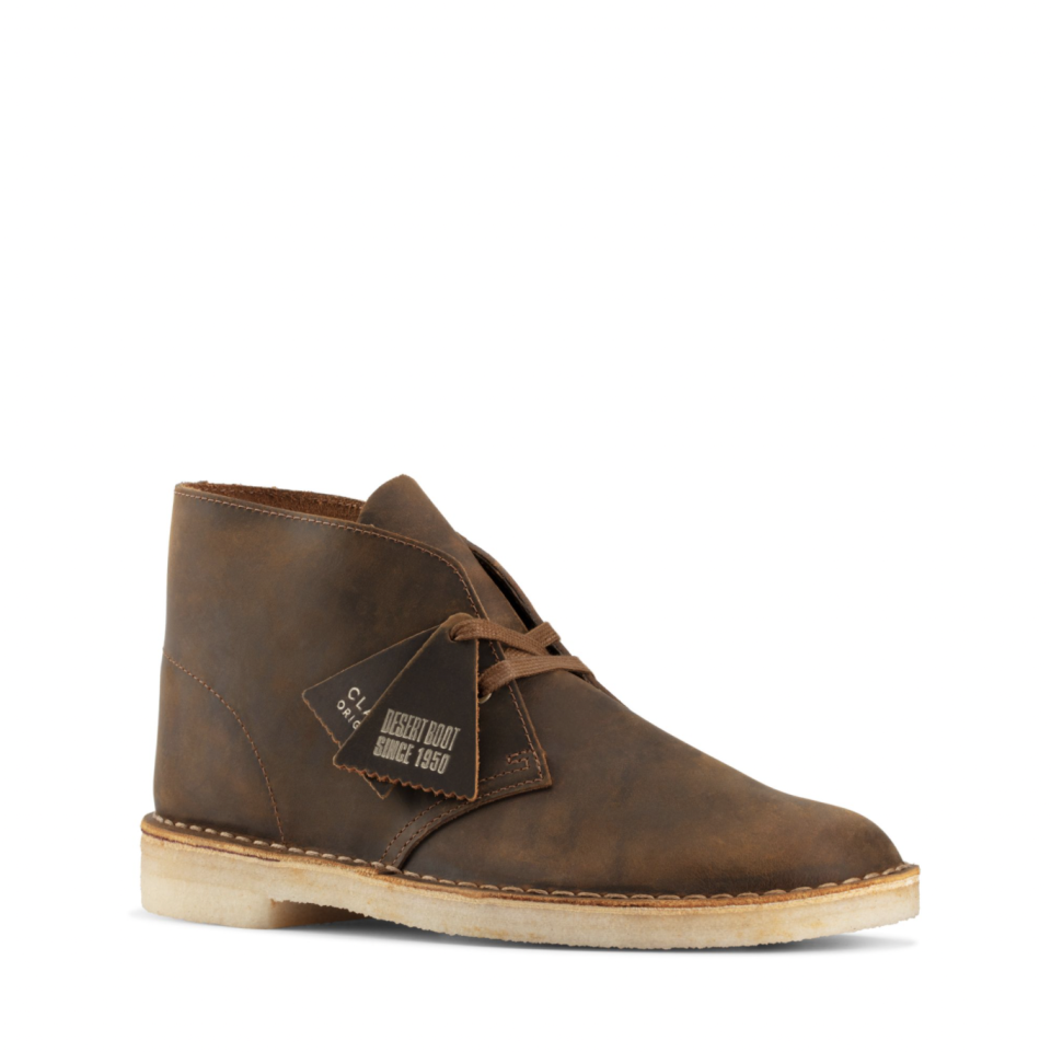 """<p><strong>Clarks</strong></p><p>clarksusa.com</p><p><strong>$150.00</strong></p><p><a href=""""https://go.redirectingat.com?id=74968X1596630&url=https%3A%2F%2Fwww.clarksusa.com%2Fc%2FDesert-Boot%2Fp%2F26155484&sref=https%3A%2F%2Fwww.esquire.com%2Fstyle%2Fmens-fashion%2Fg28186249%2Fbusiness-casual-shoes%2F"""" rel=""""nofollow noopener"""" target=""""_blank"""" data-ylk=""""slk:Shop Now"""" class=""""link rapid-noclick-resp"""">Shop Now</a></p><p>Ah, the desert boot. It doesn't get anymore business casual than this, folks. The shoe is polished, but not too dressy. And Clarks has pretty much got the market covered with its OG version. <br></p>"""