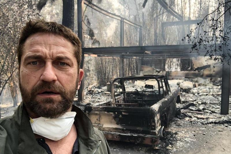 Gerard Butler Opens Up About Home Partially Destroyed in California Wildfires