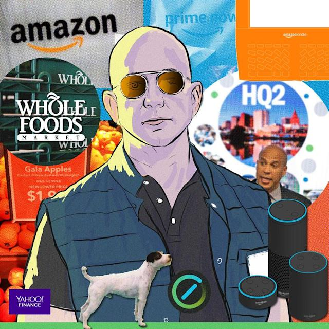 Amazon has had quite the year, which is why Yahoo Finance's editors selected the Seattle tech giant as 2017's Company of the Year. Credit: David Foster/Yahoo Finance