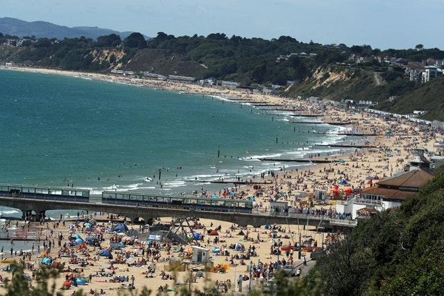 The start of the month saw crowds flock to Bournemouth beach - as temperatures reached the mid-30s