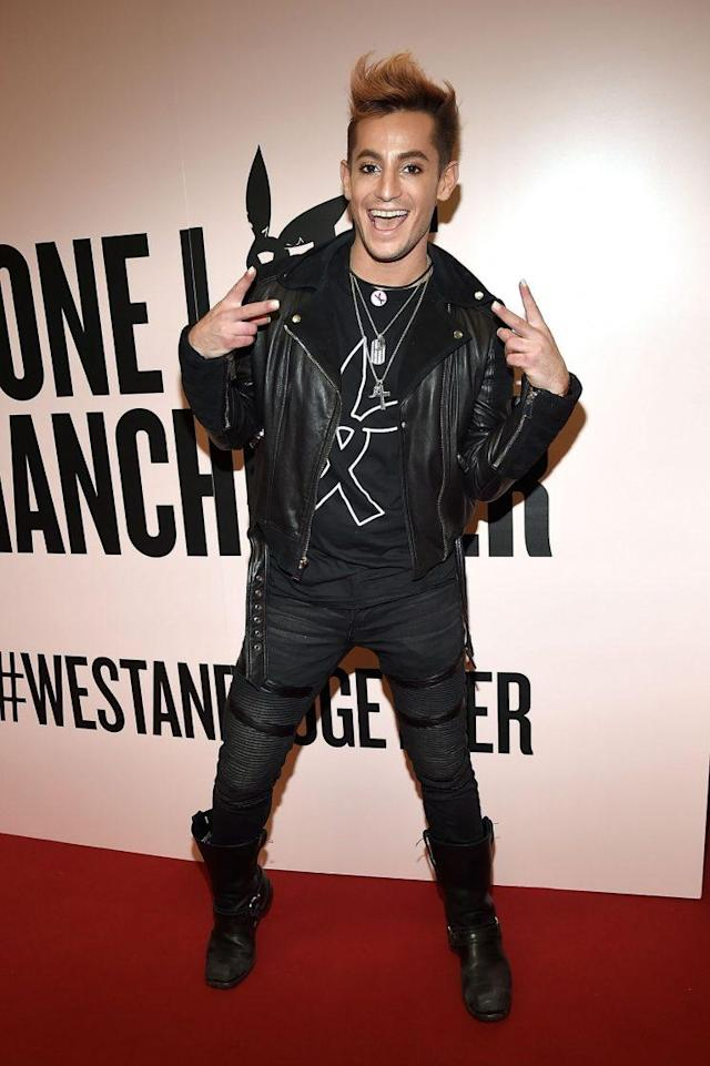 Frankie J. Grande backstage during the One Love Manchester Benefit Concert at Old Trafford Cricket Ground on June 4, 2017, in Manchester, England. (Photo by Kevin Mazur/One Love Manchester/Getty Images for One Love Manchester)