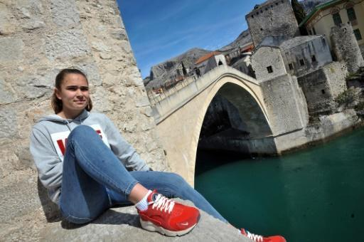 Minela Gacanica, a 19-year-old forward for Emina, believes people are slowly being won over by the merits of women's football in Bosnia