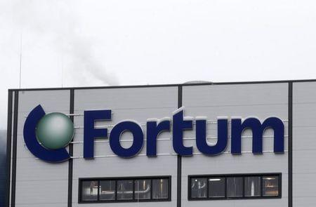 Fortum logo is pictured on the biomass combined heat and power plant in Jelgava February 3, 2014. REUTERS/ Ints Kalnins