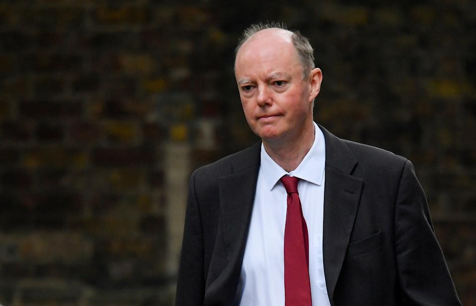 Chief Medical Officer for England Chris Whitty arrives at Downing Street in London, Britain, September 21, 2020. REUTERS/Toby Melville