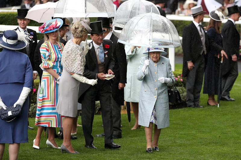 Queen Elizabeth II during day two of Royal Ascot at Ascot Racecourse. (Photo by Jonathan Brady/PA Images via Getty Images)